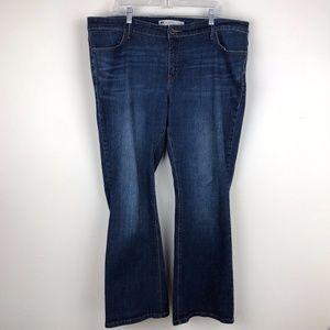 Levi's 590 Bootcut Jean Blue Denim 18W Short Plus